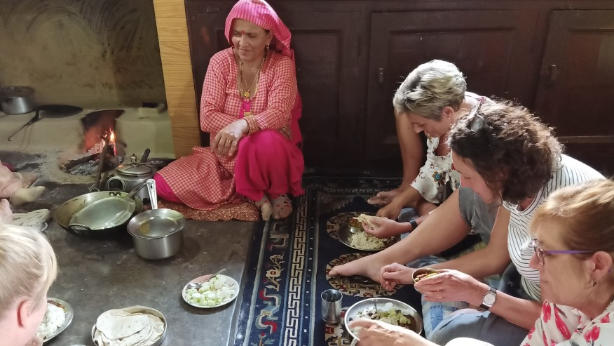 Have a simple traditional lunch in Naddi village