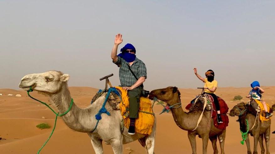 Camel rides in the Sahara