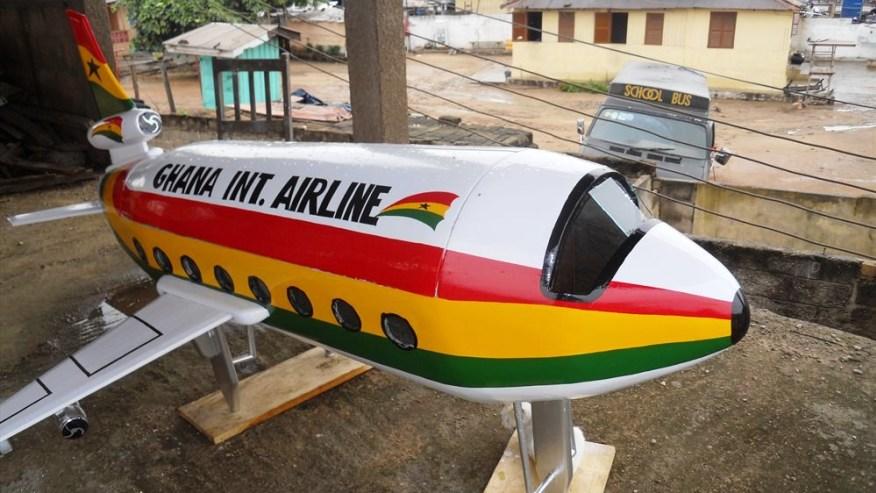 An airplane art coffin