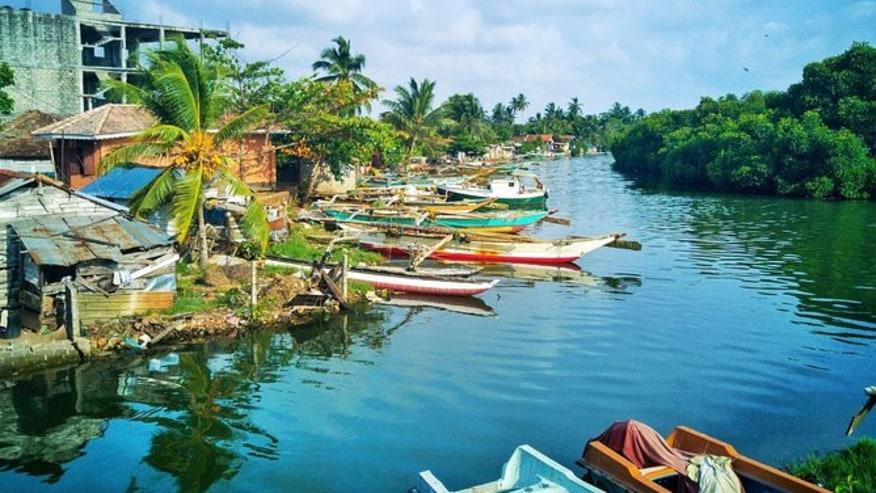 boats on the lagoon