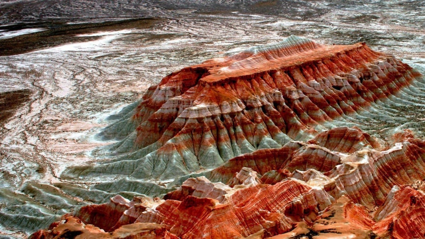 Fiery red canyons