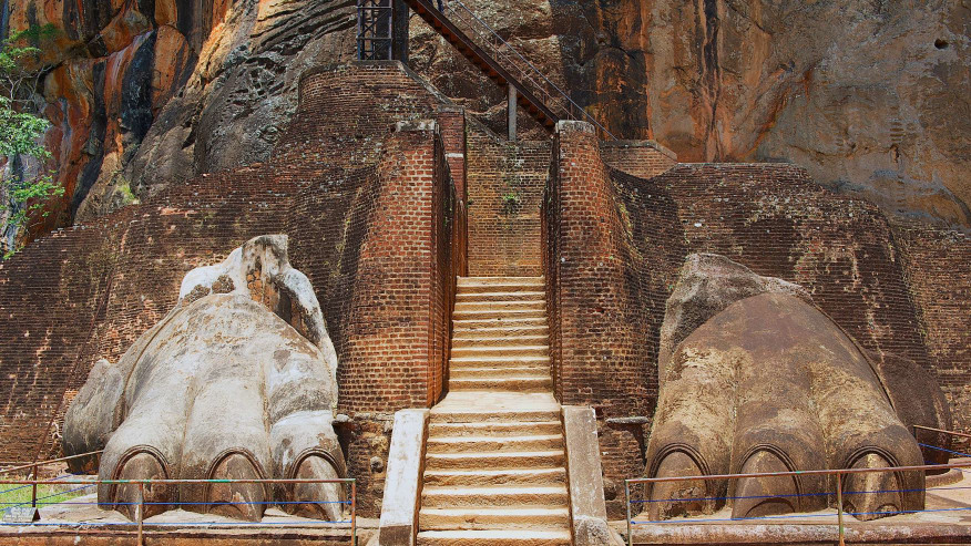Entrance to Sigiriya Lion Rock