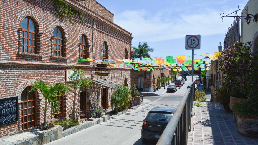 Stop by Todos Santos for some shopping and a meal