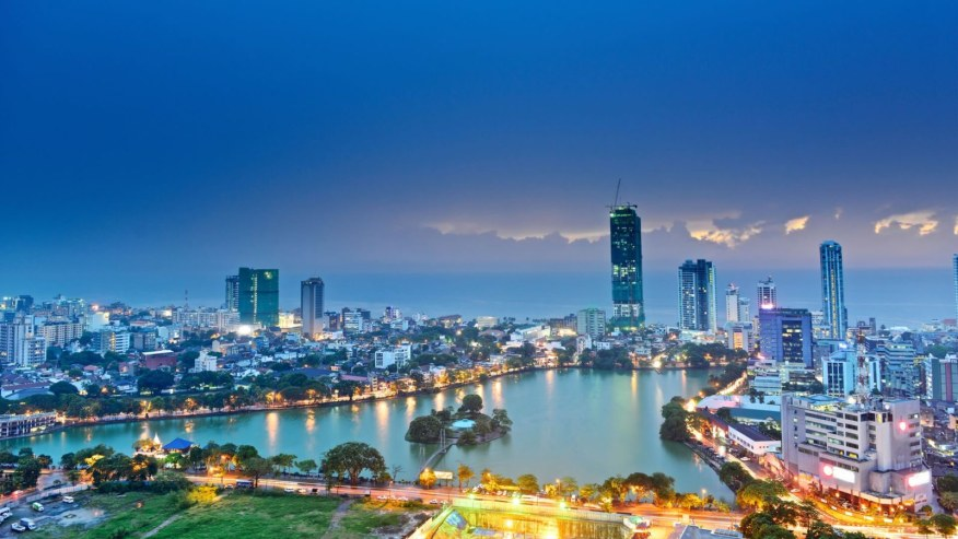 Night view of colombo city