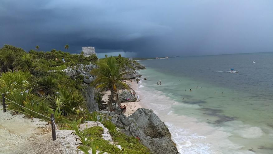 Beachside view near the Ruins