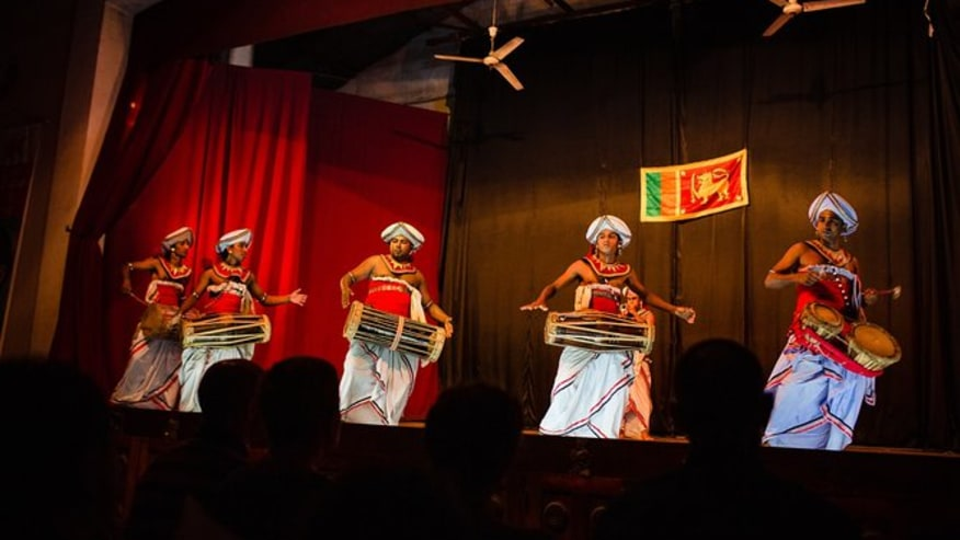 cultural dance show at the Kandy lake club