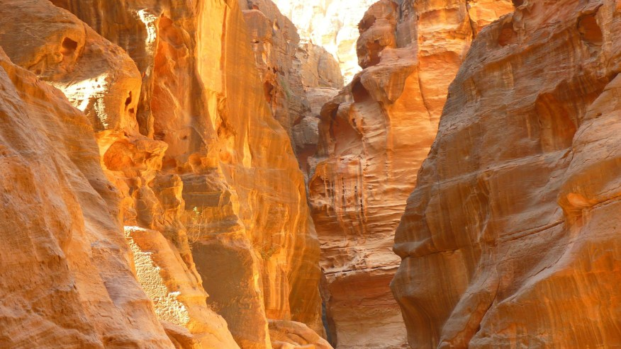 Siq- Main entrance to the ancient city of Petra