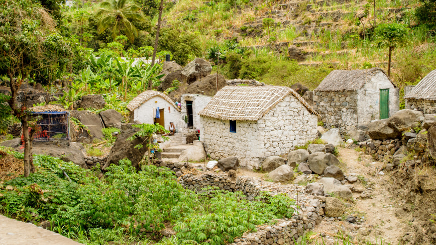 The houses of Santo Antao
