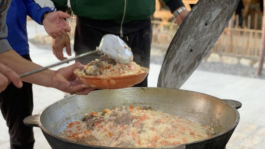 Plov - Turkmen traditional dish