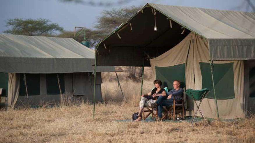 tented campsite
