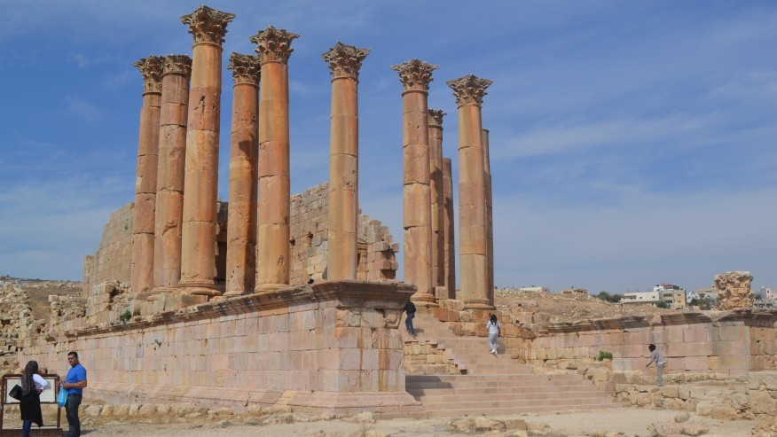 The ruins of Jerash