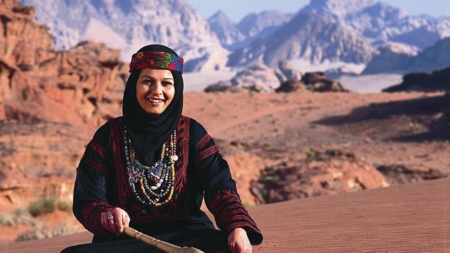 Local woman in Wadi Rum
