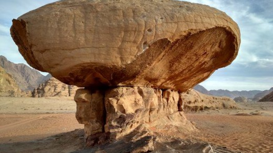 Eroded rocks of Wadi Rum