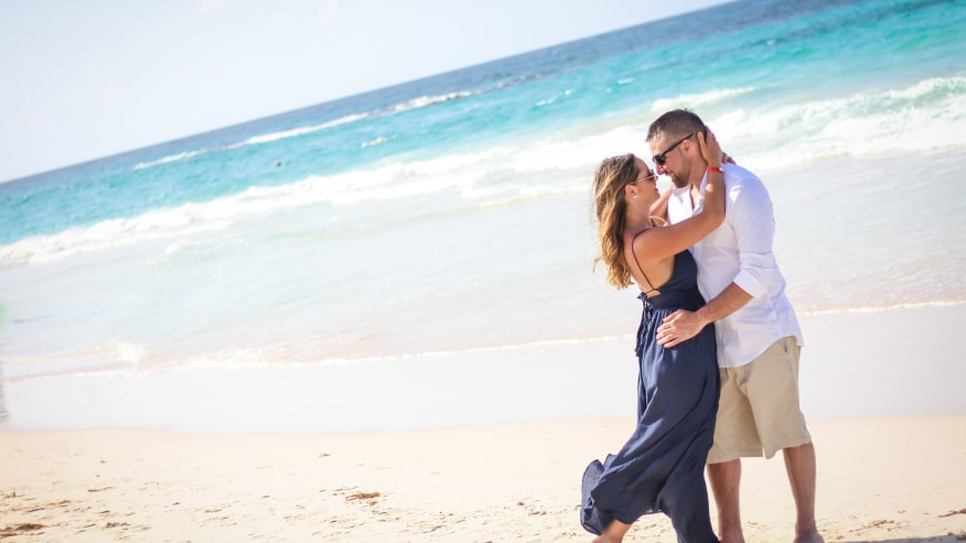 Photoshoot at a Dominican beach