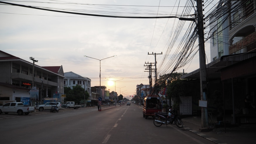 Sunset in Pakse