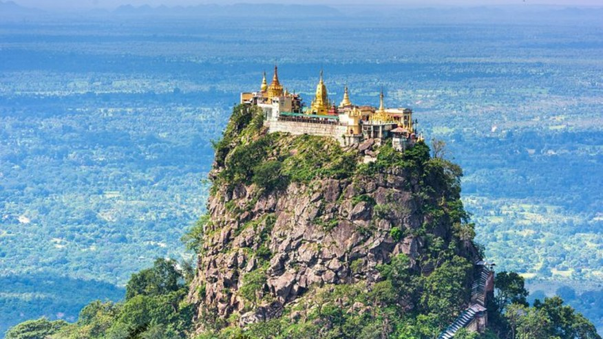 Pagodas on top of Mount Popa