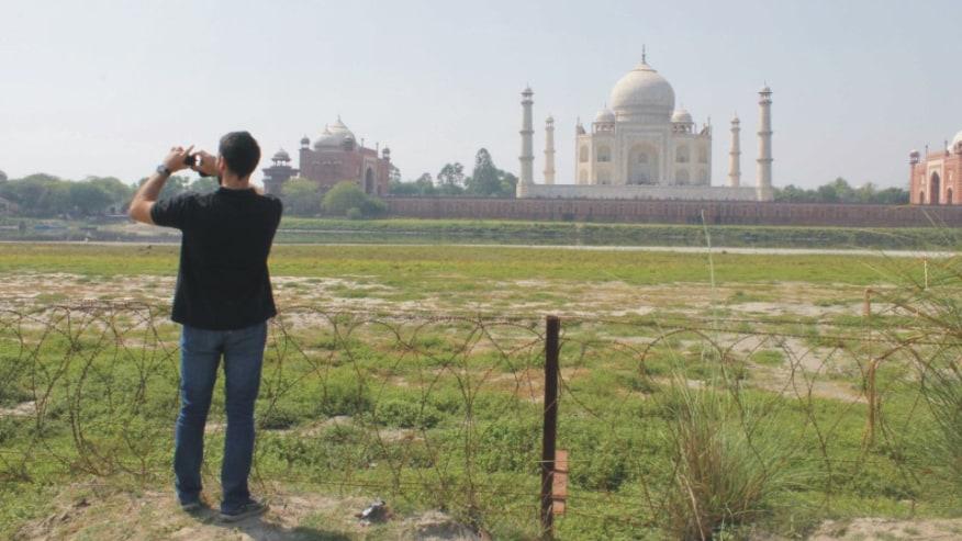 Sunset View Taj Mahal