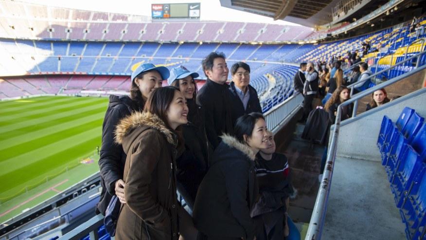 Enter the Camp Nou Stands
