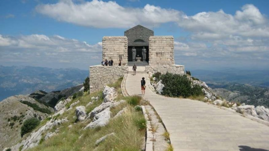 Mausoleum at the top of Mount Lovcen