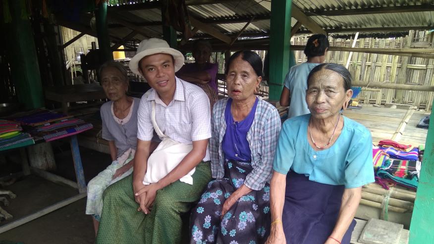 Tatooed face ladies at Chin Village