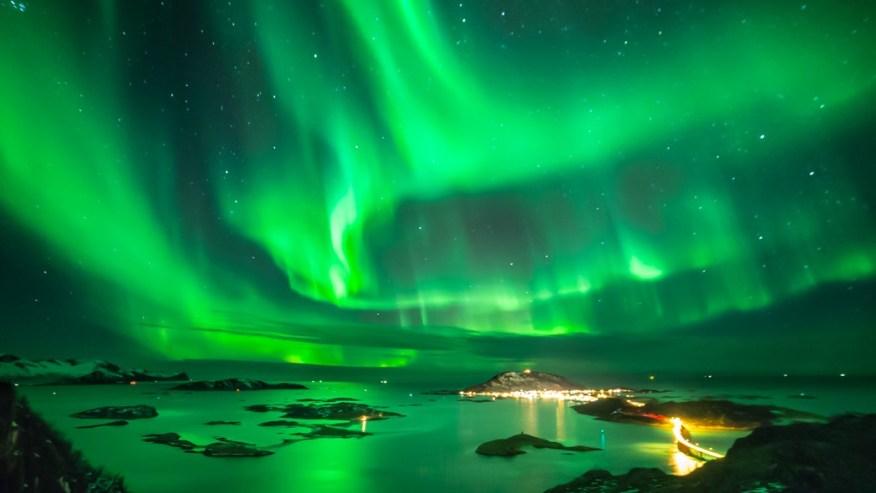A beautiful display of the Aurora Borealis