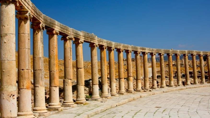 Drop by this ancient Roman city in Jordan
