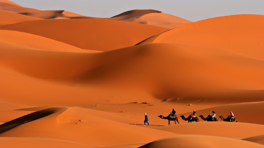 Journey Through the Moroccan Sahara desert