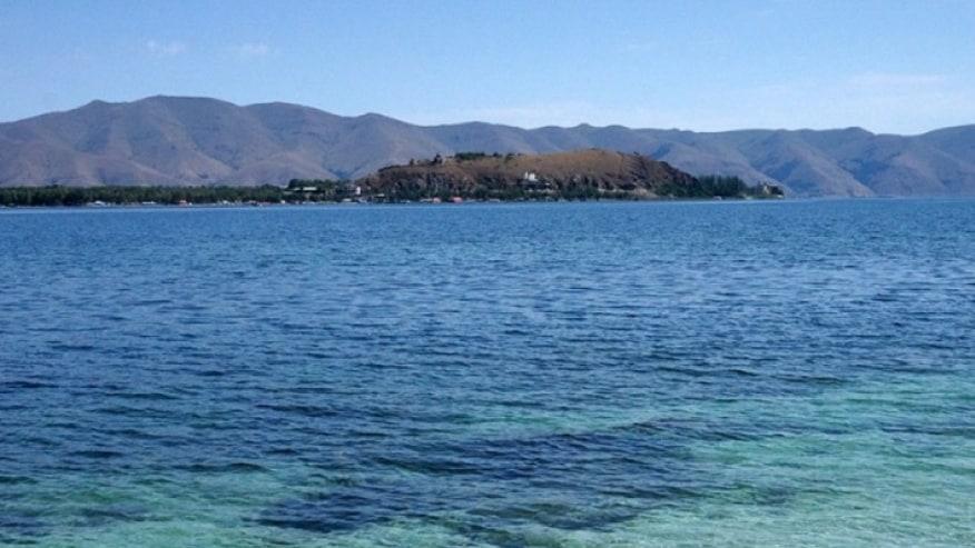 Sevan lake view