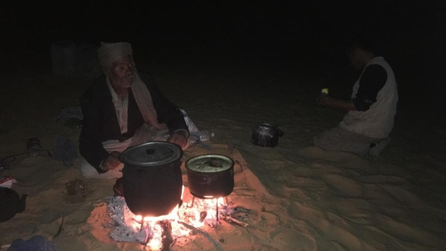 dinner being cooked