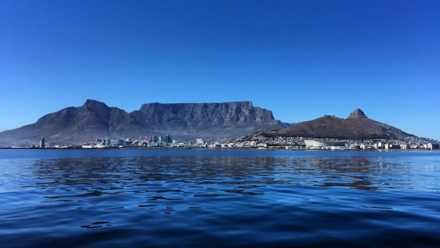 Cape Town as seen from the Robben Island Ferry
