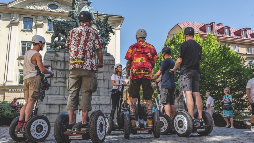 Segway in Stockholm Old Town