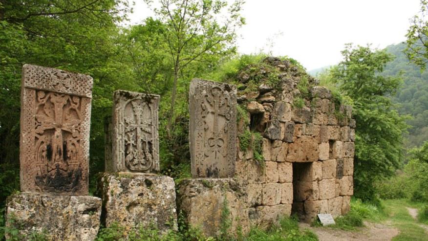 Haghartsin monastery khachkars
