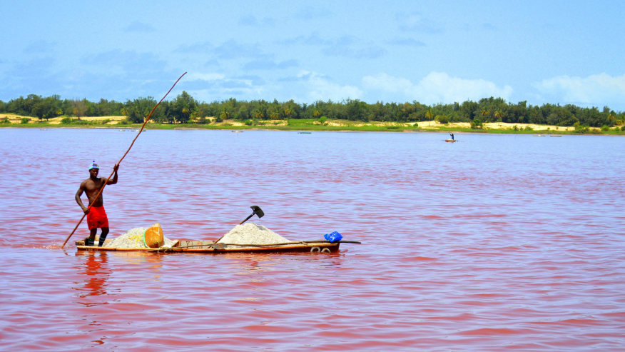 Discover the Unusual Pink Lake in Senegal