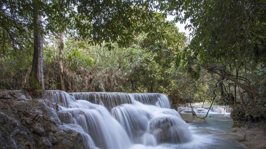 Kouangsi waterfall