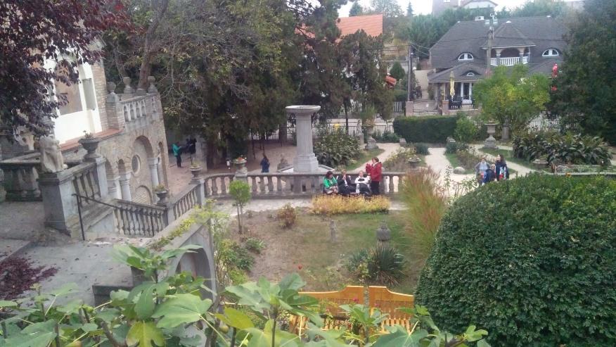 The garden of Bory Castle
