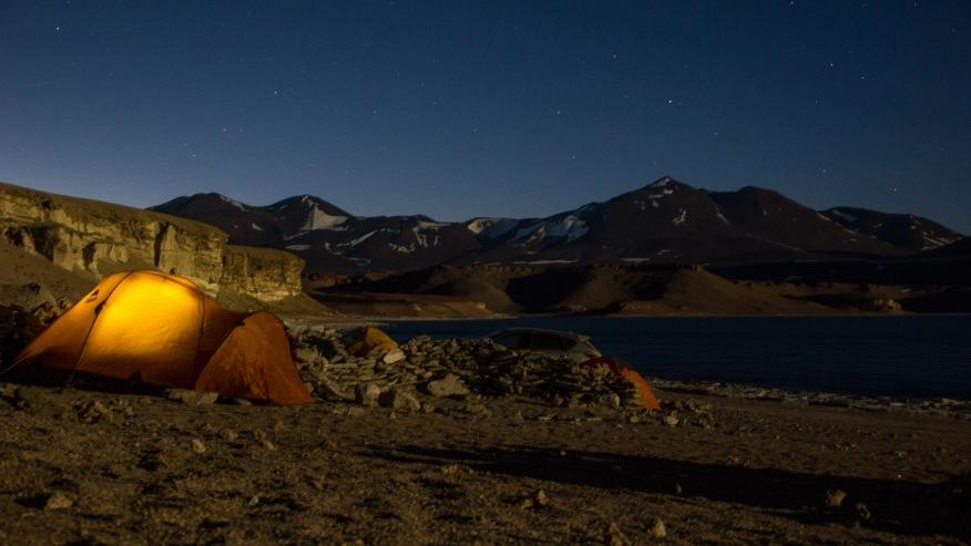 Camping in Laguna Verde