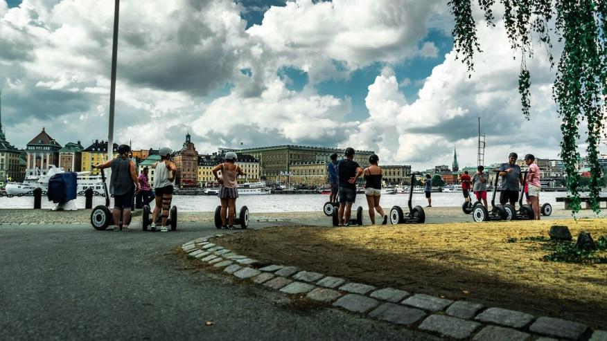 view of Stockholm Old Town from Skeppsholmen