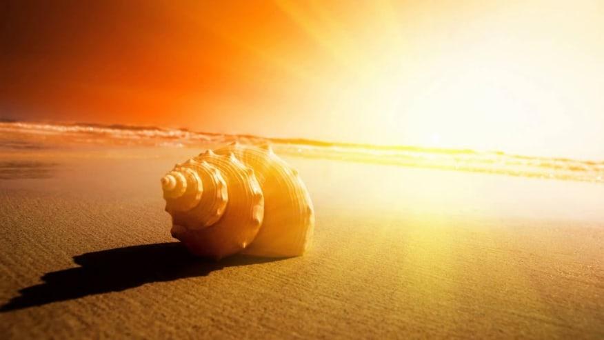 Bright sun on the Dead Sea