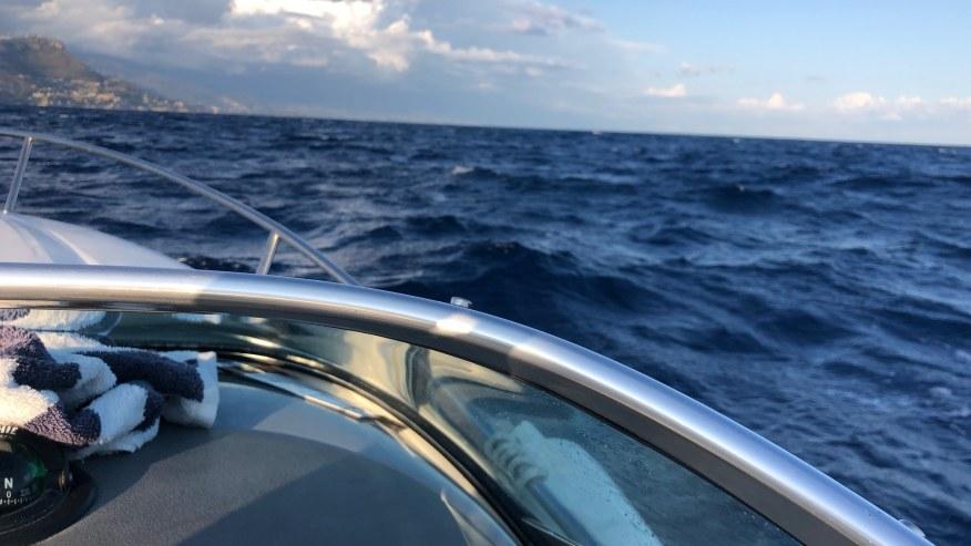 Cruise over the Mediterranean Sea
