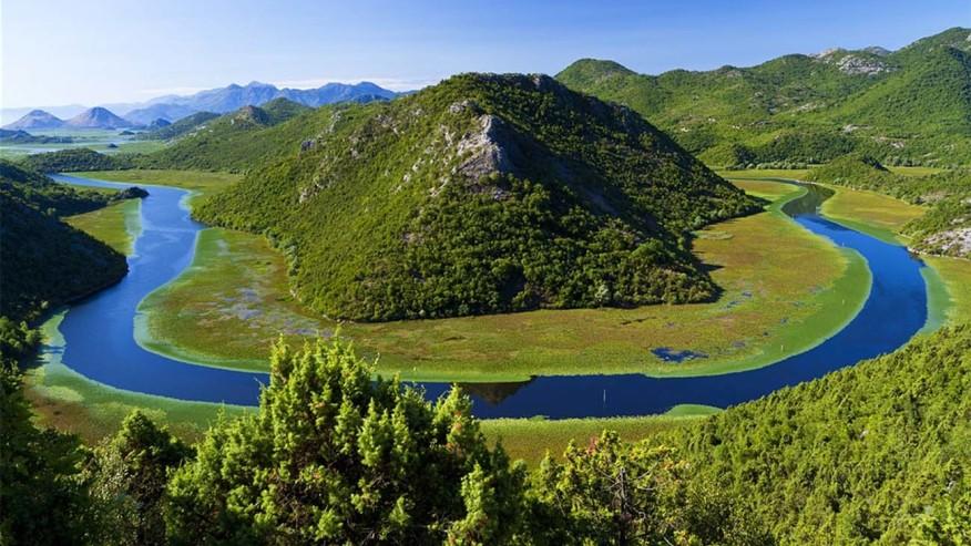 National park of lake Shkodra