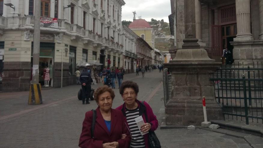 Visitantes de Costa Rica, disfrutando su visita