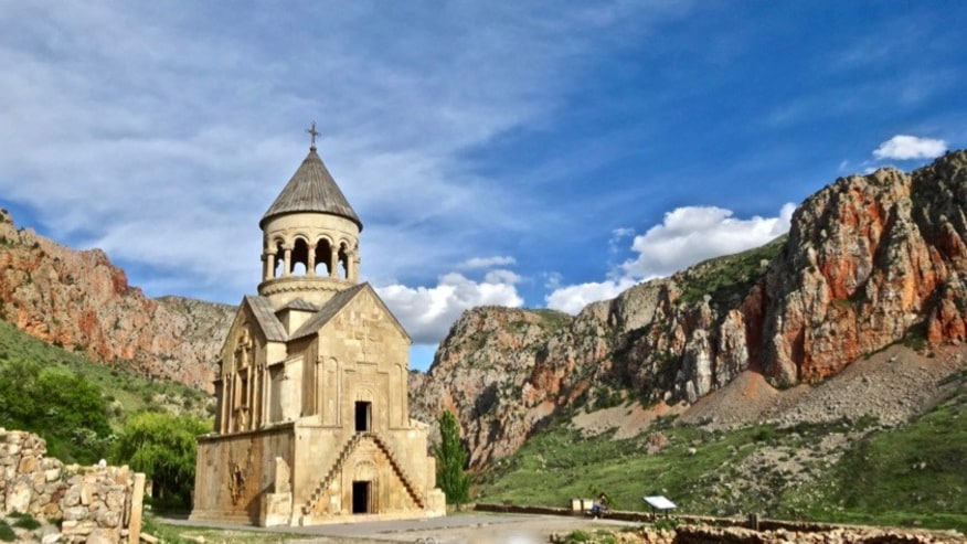 Noravank Monastery and the red cliffs