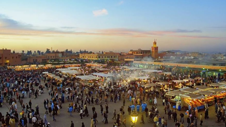 View of market in Marrakech