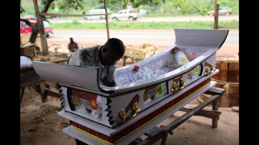 A fantasy coffin