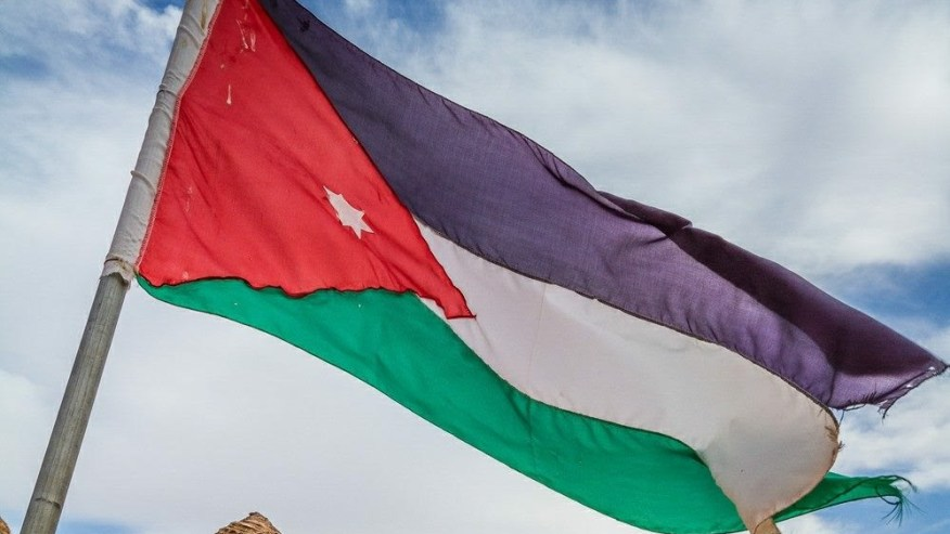 The national flag of Jordan