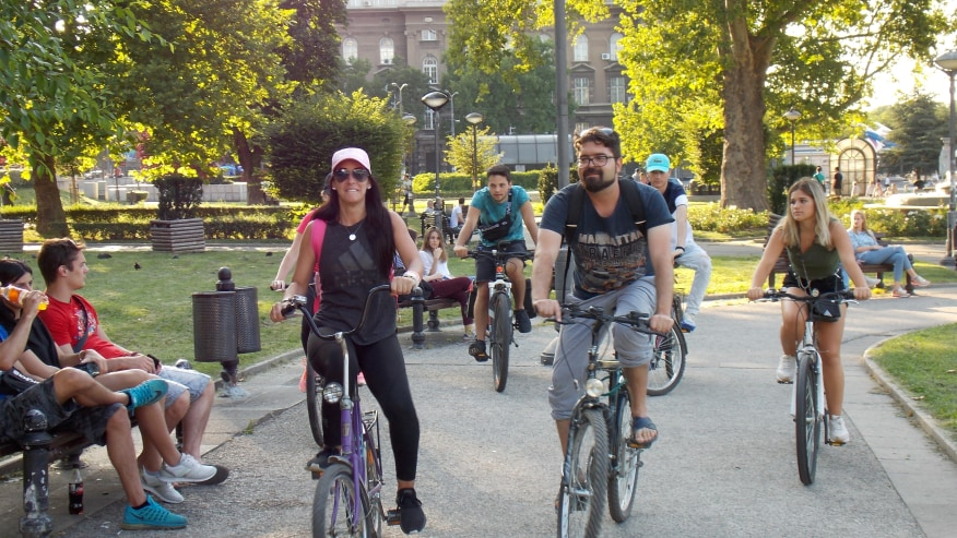 Cycle in Belgrade parks