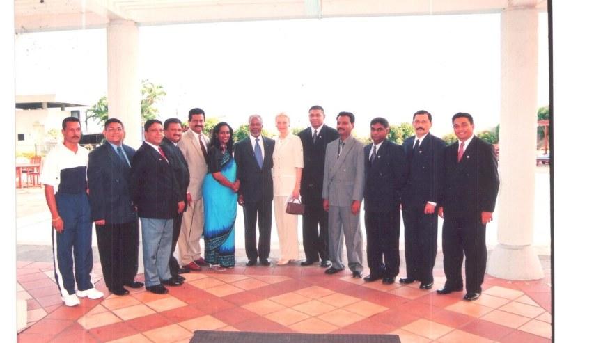 Photo taken with former UN Secretary General Kofi Annan