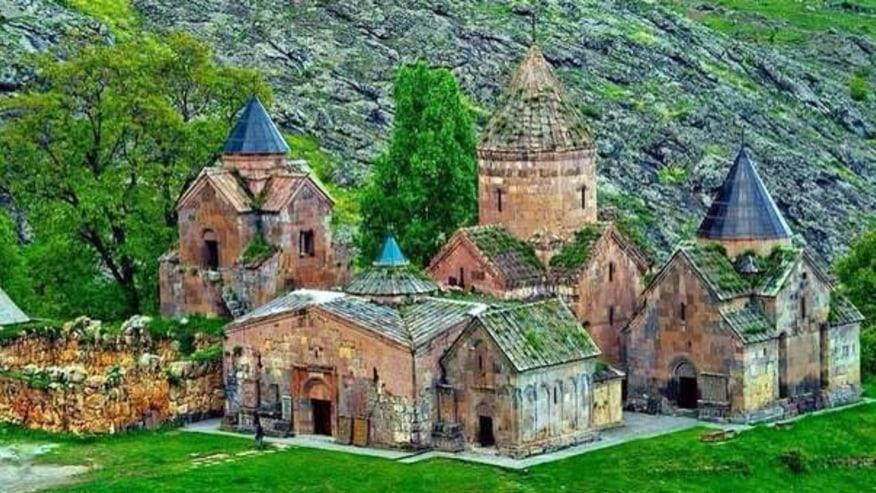 Goshavank Monastery and its 13th century Armenian needle made cross-stone