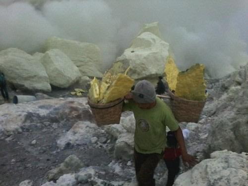 sulfur miners