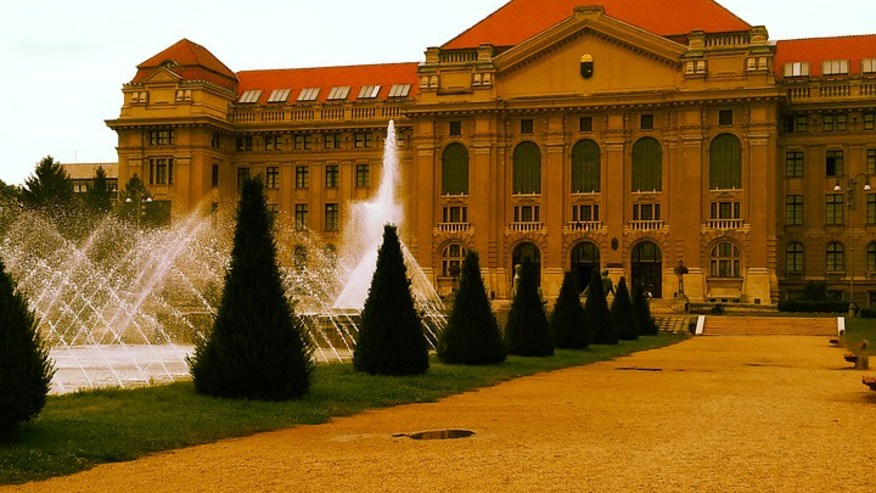 Debrecen University fountain